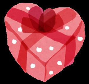 バレンタインのハートボックス
