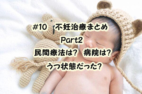 【2度の流産と妊活記録Vol.10】私の不妊治療をまとめるブログ。30代、何から始めた?Part.2